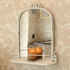 Crema Stile Antico specchio da parete mensola camera da letto soggiorno