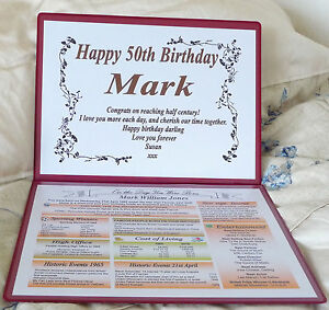 SPECIAL 70TH BIRTHDAY GIFT -THE YEAR YOU WERE BORN -  A PERSONALISED KEEPSAKE