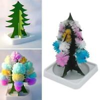 Kids Magic Growing Crystal Tree Kit Christmas Paper Decors Science Toy Gift