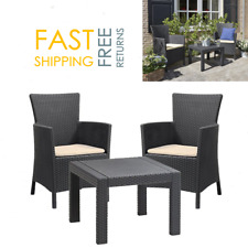 Rattan Patio Table And Chairs 2 Seater Balcony Garden Conservatory Furniture Set