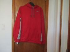 NIKE MENS THERMA FIT TRAINING SWEATSHIRTS RED SIZE L
