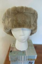Vintage St Michael Cloche Hat Camel Faux Fur Trim Peaky Blinders Great Gatsby