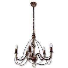 Märchenhafter Kronleuchter Antik Schwarz Gold 5-flammig 5 x E-14 Lampe Lüster