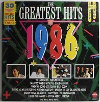 "THE GREATEST HITS OF 1986 Various Artists LP Double Album 12"" Vinyl VG Telstar"