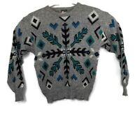 Tyrolia By Head Mens Wool Blend Geometric Ski Snowboard Sweater Sz Small Vintage