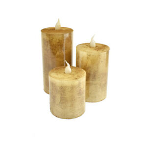 Battery Operated LED Votive Candle with Built-In Timer