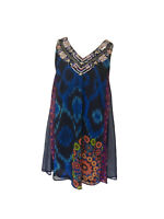 DESIGUAL BY CHRISTIAN LACROIX   42 UK 14   Kaftan Tunic Dress   Rainbow