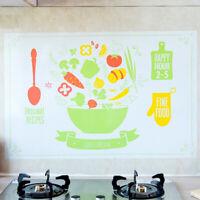 AU_ KE_ Self-adhesive Anti-oil Heat Resistant Kitchen Wall Decor Sticker Decal D