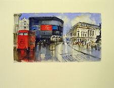 Acuarela * watercolor * Londres * Pintura original