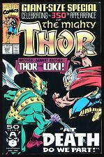 The Mighty Thor #432 Brother Against Brother At Death Do Us Part vs Loki *D*