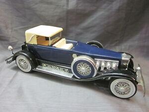 Jim Beam Decanters 1934 Duesenberg Model Car Dark Blue - Special Edition