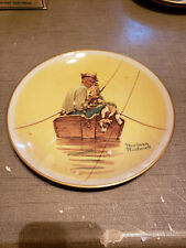 New listing 1976 Norman Rockwell Limited Edition Gorham Summer - Fish Finders Plate,10 3/4