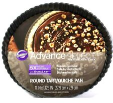 """1 Count Wilton Advanced Select Premium 11"""" X 1.125"""" Non Stick Round Tart Pan"""