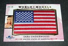 2017 Benchwarmer SARA UNDERWOOD America the Beautiful WORLD MODELS Flag/20 PMOY