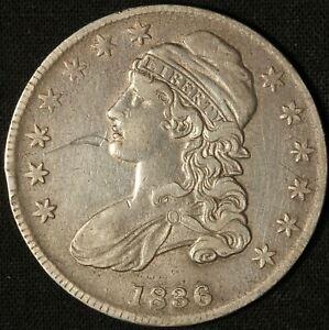 1836 Capped Bust Half Dollar - Free Shipping USA - (O-123) - R4