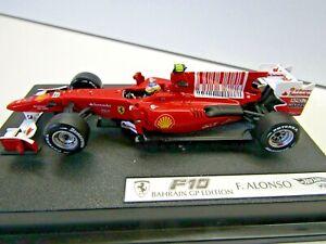 Hotwheels Elite Ferrari Collection 1:43 Scale F10 Bahrain GP Fernando Alonso # 8
