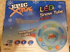 "Snow Tube Epic Xtreme LED Multi Color Lights 32"" Inflated Diameter New"