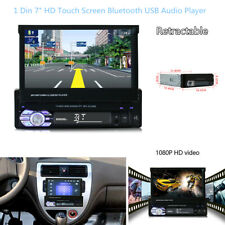 """7""""1Din HD Touch Retractable MP3 Player Car Stereo Radio Bluetooth USB Audio AUX"""