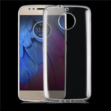 TPU Gel Jelly iSkin Case Cover for Motorola Moto G5S Plus Ultra Clear Free SP