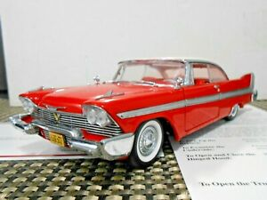 "Danbury Mint 1:24 1958 Plymouth Fury ""Christine"" W/ Papers!"