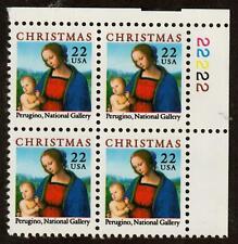 Scott 2244 22¢ Christmas Madonna Plate block of 4 MNH Free Shipping!!!