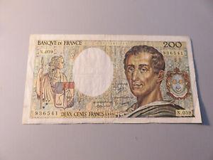 Francia Banconota 200 Franchi Francs 1986 Banconota circolata da collezione