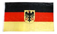 Fahne Deutschland mit Adler 90 x 150 cm Deutschlandfahne mit Adler Ösen Flagge