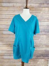 Women's Greys Anatomy XL Teal Blue Short Sleeve Scrub Top