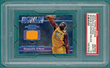 2003 Topps Chrome Shaquille O'Neal, Game Used Jersey #BCRSO PSA 10! Lakers! POP1
