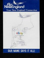 AIR NEW ENGLAND 1976 NOTEPAD ROUTE MAP & F-27 OUR NAME SAYS IT ALL 8 SHEETS