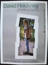 "David Hockney photographe Paris 1982 MINI POSTER POP ART originale. repro. 14x10"" R24"