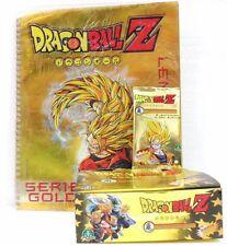 "Dragon Ball Z ""1 box da 36 buste con 5 carte + raccoglitore"" serie GOLD GPZ"