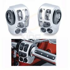 Chrome Switch Housing Cover Kit For Harley Touring Trike 2014 2015 2016 2017 18