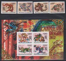 H910. Burundi - Mnh - Art - Dragons - 2011 - Imperf