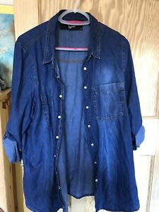 Simply Be Denim Shirt Size 20
