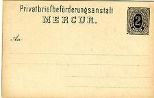 GA Karte Privatbriefbeförderungsanstalt Mercur 2 Pfennig Privat Post Blume PP094