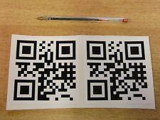 2 OFF personalizzata codice QR Decalcomanie 100mm-NERO + BIANCO