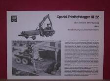 Original alter HELA LANZ Spezial-Friedhofsbagger NI 22 Bagger Prospekt