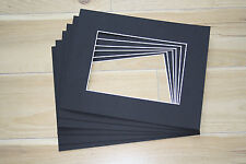 """Bulk x 50 Professional Picture Framing Mat Boards 6"""" x 8"""" with 4"""" x 6"""" Window"""