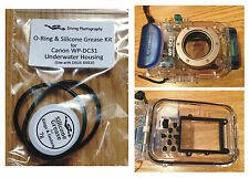 O-ring & Silicone Grease Kit for Canon WP-DC31 Diving Underwater Housing Case