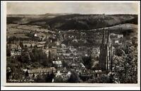 Marburg Lahn Hessen alte Postkarte 1937 gelaufen Gesamtansicht Vogelschau-Persp.