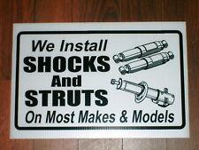Auto Repair Shop Sign: Shocks & Struts Installation