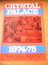 10/09/1974 Crystal Palace v Bristol City [Football League Cup] (Team Changes). N