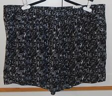 WOMEN'S a.n.a BLACK AND WHITE PULL-ON SHORTS - SIZE 3XL PLUS