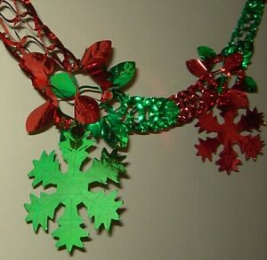 GARLAND SNOWFLAKE CHRISTMAS PARTY WALL HANGING DECORATION CEILING BELL BALL XMAS