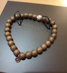 TATEOSSIAN Beads Stretch Steel Hematite Brown LAVA Silver Plated 8mm M