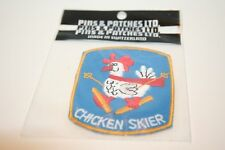 Chicken Skier Embroidered Patch Swiss Made Brand New in Bag  Pins & Patches
