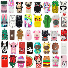 3D Cartoon Silicone Phone Case Back Cover For iPhone X XS Max XR 5 6 7 8