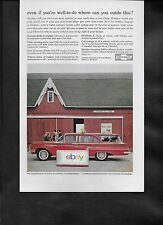 CHEVROLET 1960 RED 9 PASSENGER KINGSWOOD STATION WAGON RED BARN AD