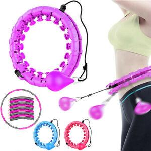 24/8 Teile Smart Hula Hoops Reifen Fitness Einstellbar Hoola Hup Gymnastikreifen